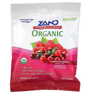 Занд, Organic Herbalozenge, Cranberry Raspberry, 18 Lozenges отзывы