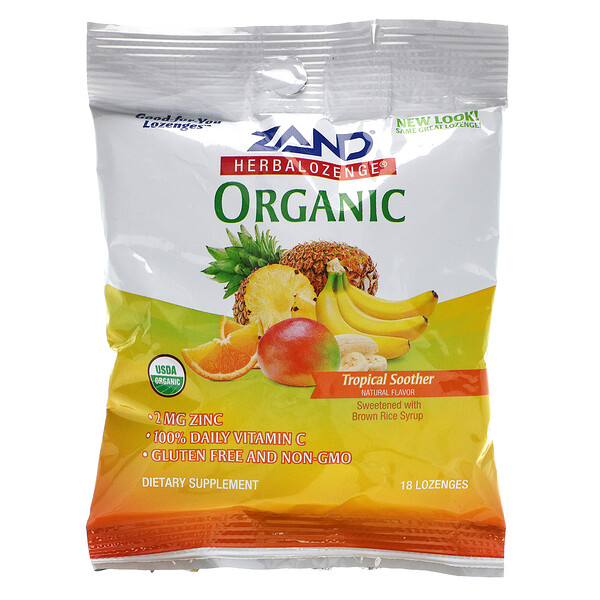 Organic Herbalozenge, Tropical Soother, 18 Lozenges