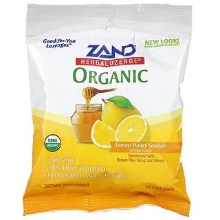 Zand, Органические таблетки на основе трав, лимон и мед со смягчающим действием, 18 таблеток