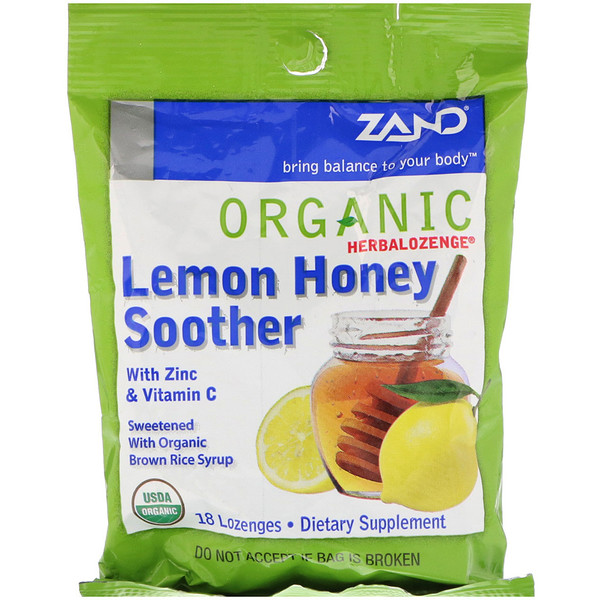 Organic Herbalozenge, Lemon Honey Soother, 18 Lozenges