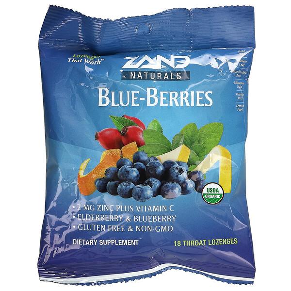 Naturals, Organic Blue-Berries, 18 Throat Lozenges
