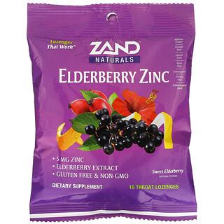 Zand, Elderberry Zinc, Sweet Elderberry, 15 Throat Lozenges