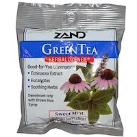 Зеленый чай, Растительные пастилки, Сладкая мята, 15 пастилок - фото