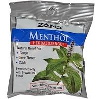Ментол, Herbalozenge (растительные пастилки), успокаивающий ментол, 15пастилок с ментолом - фото