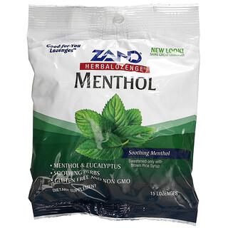 Zand, Herbalozenge, Menthol, Soothing Menthol, 15 Lozenges