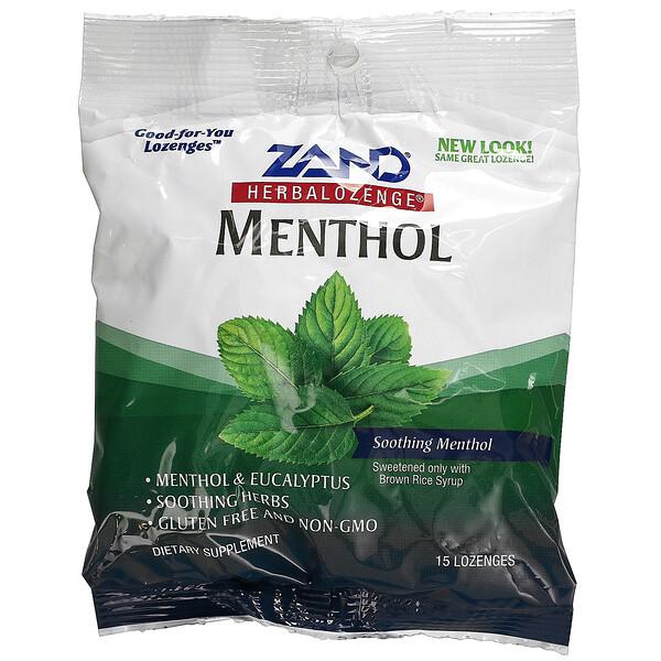 Herbalozenge, Menthol, Soothing Menthol, 15 Lozenges