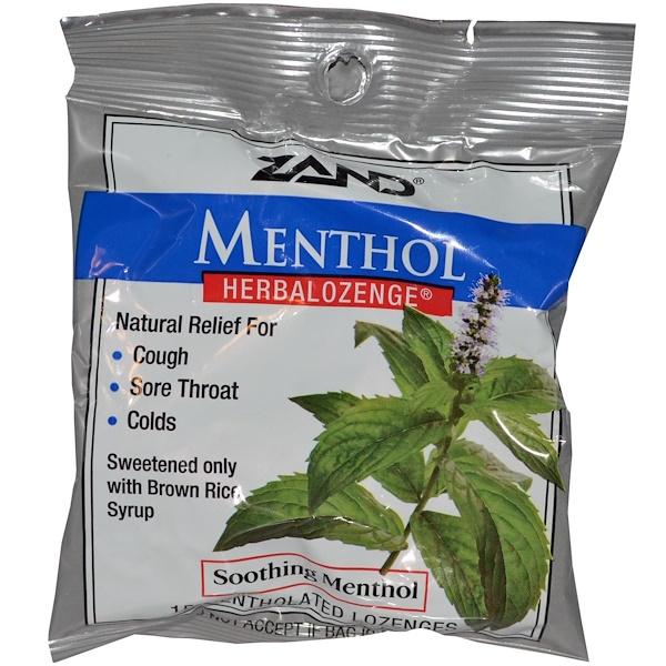 Zand, Menthol, Herbalozenge, Soothing Menthol, 15 Mentholated Lozenges