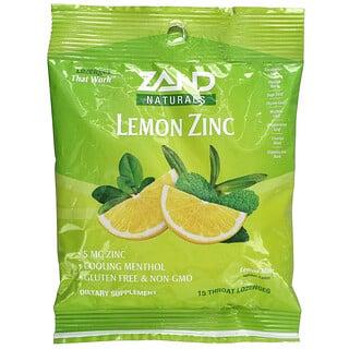 Zand, Naturals, Lemon Zinc, Lemon Mint, 15 Throat Lozenges