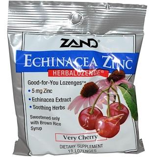 Zand, Echinacea Zinc, Herbalozenge, Very Cherry, 15 Lozenges