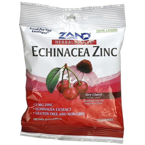 Herbalozenge, Echinacea Zinc, Very Cherry, 15 Lozenges
