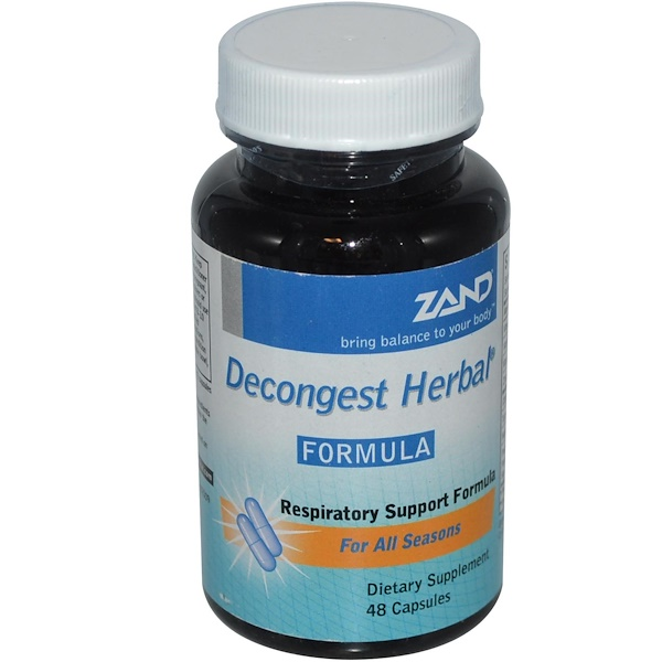 Zand, Decongest Herbal Formula, 48 Capsules (Discontinued Item)