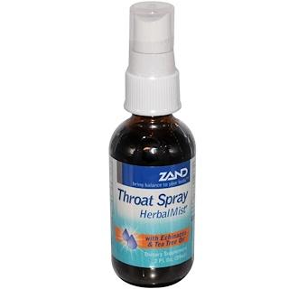 Zand, Throat Spray, Herbal Mist, 2 fl oz (59 ml)