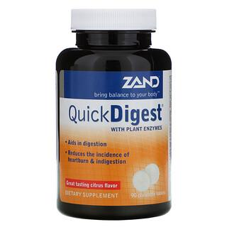 Zand, Quick Digest, Citrus Flavor, 90 Chewable Tablets