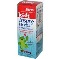 Растительная иммунная поддержка для детей, со вкусом малины, 1 жидкая унция (30 мл) - фото