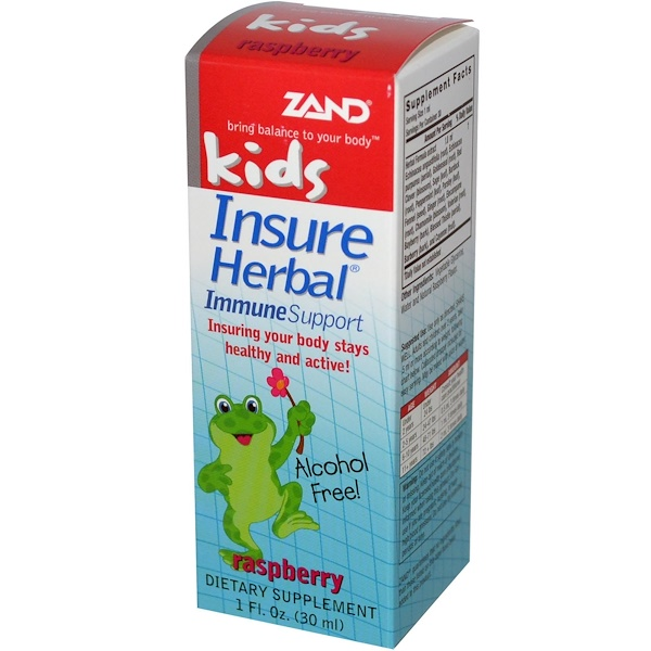 Zand, Kids, Insure Herbal, Immune Support, Raspberry, 1 fl oz (30 ml) (Discontinued Item)