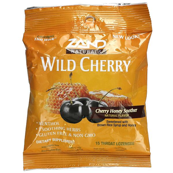Naturals, Wild Cherry, Cherry Honey Soother, 15 Throat Lozenges