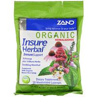 Organic HerbaLozenge, Insure Herbal, 18 Mentholated Lozenges - фото