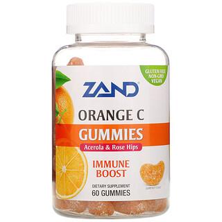 Zand, Orange C Gummies, Acerola & Rose Hips, Immune Boost, 60 Gummies