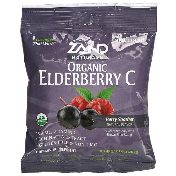 Naturals, Organic Elderberry C, Berry Soother, 18 Throat Lozenges