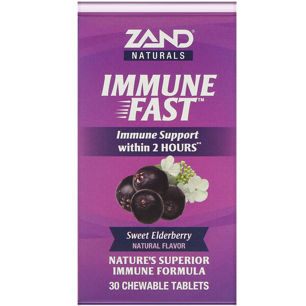 Zand, Immune Fast, Sweet Elderberry, 30 Chewable Tablets