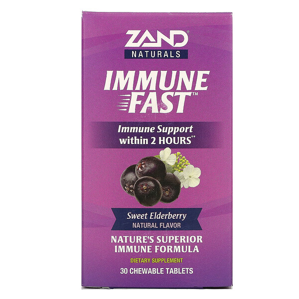 Immune Fast, Sweet Elderberry, 30 Chewable Tablets
