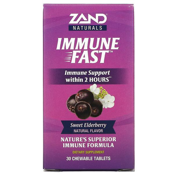 Naturals, Immune Fast, Sweet Elderberry, 30 Chewable Tablets