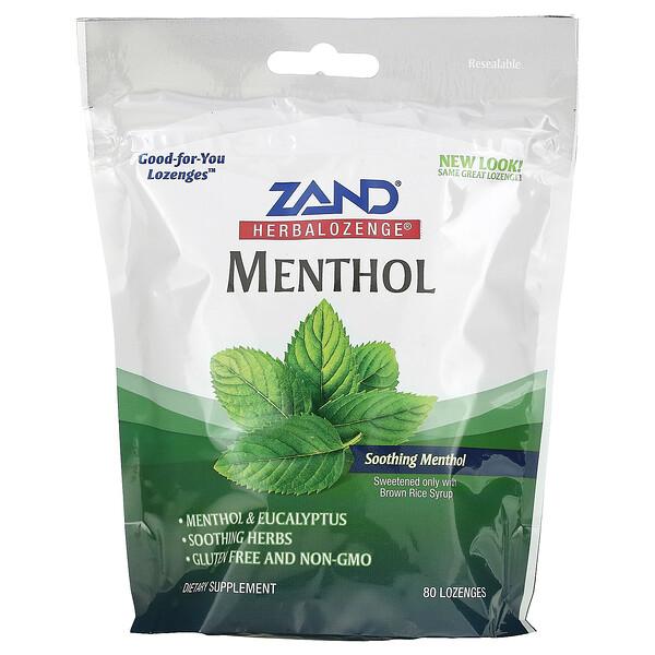 Herbalozenge, Menthol, Soothing Menthol, 80 Lozenges