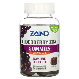 Zand, Immune Support, Elderberry Zinc with Vitamin C, 60 Gummies