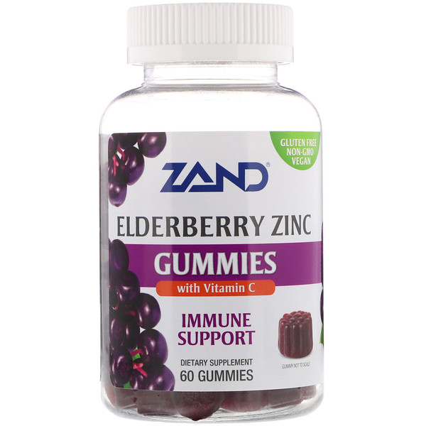 Zand, Elderberry Zinc Gummies with Vitamin C, 60 Gummies