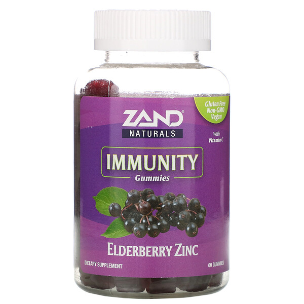 Immunity, Elderberry Zinc with Vitamin C, 60 Gummies