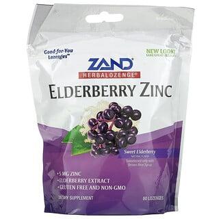 Zand, Herbalozenge, Sabugueiro Zinco, Sabugueiro Doce, 80 Pastilhas