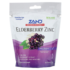 Занд, Herbalozenge, Elderberry Zinc, Sweet Elderberry, 80 Lozenges отзывы покупателей
