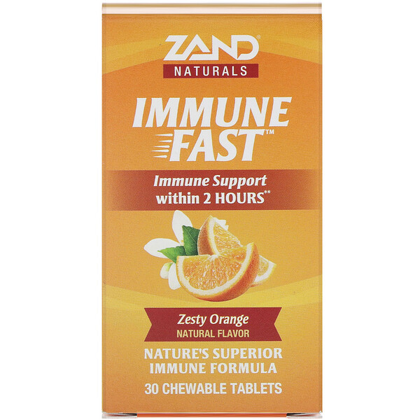 Zand, Immune Fast, Zesty Orange, 30 Chewable Tablets