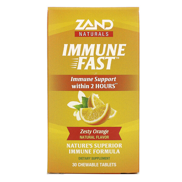 Immune Fast, Zesty Orange, 30 Chewable Tablets