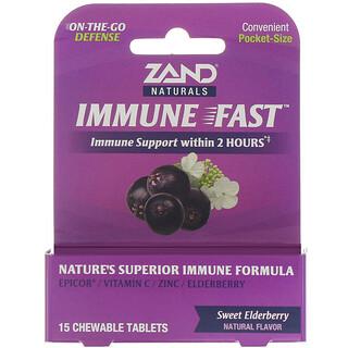 Zand, Immune Fast, Sweet Elderberry, 15 Chewable Tablets