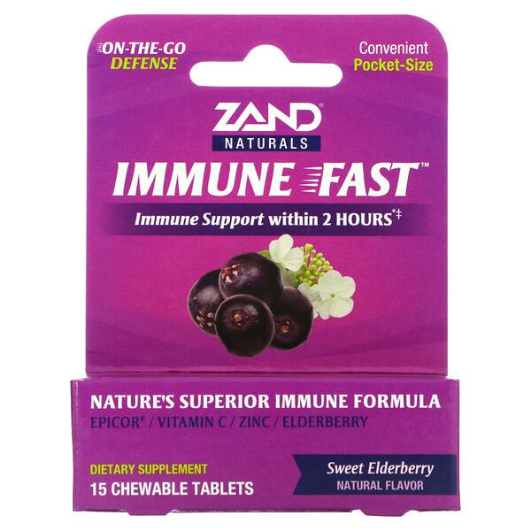 Immune Fast, Sweet Elderberry, 15 Chewable Tablets