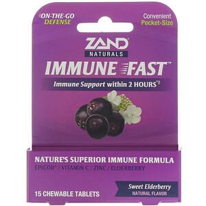 Занд, Immune Fast, Sweet Elderberry, 15 Chewable Tablets отзывы
