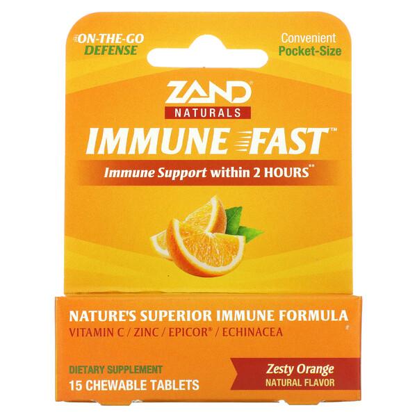 Immune Fast(イミューンファースト)、ゼスティオレンジ、チュアブルタブレット15粒