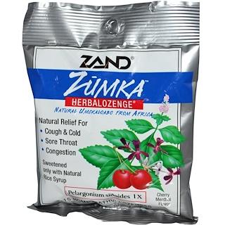 Zand, ズムカ(Zumka)、ハーバロゼンジ、チェリー・メントール味、15ホメオパシートローチ
