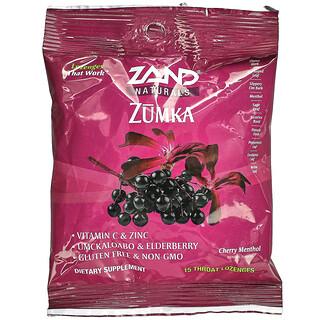 Zand, Naturals, Zumka, Cherry Menthol, 15 Throat Lozenges