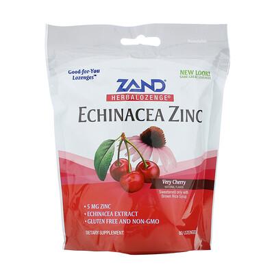 Купить Zand Таблетки на основе трав, эхинацея и цинк, со вкусом вишни, 80 таблеток