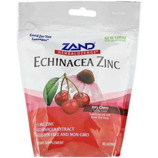 Zand, Herbalozenge, Echinacea Zinc, Very Cherry, 80 Lozenges