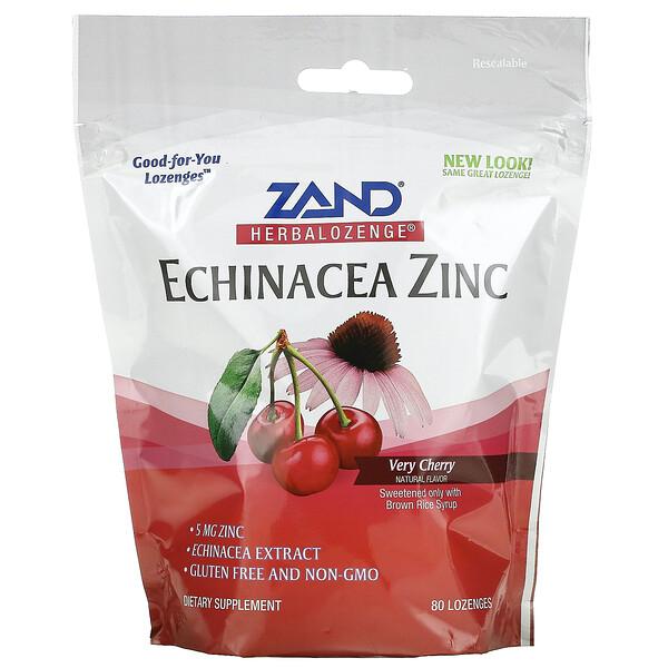 Herbalozenge, Echinacea Zinc, Very Cherry, 80 Lozenges