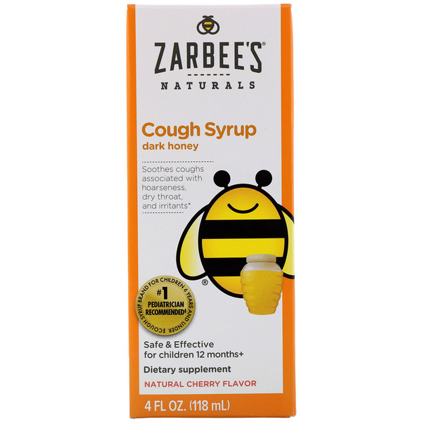 Children's Cough Syrup with Dark Honey, Natural Cherry Flavor, 4 fl oz (118 ml)