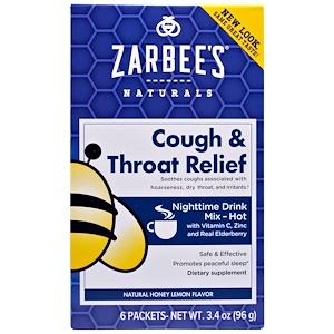 Зарбис, Cough & Throat Relief, Nighttime Drink, Natural Honey Lemon Flavor, 6 Packets, 3.4 oz (96 g) отзывы
