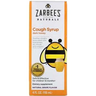 Zarbee's, 全天然、子供用咳止めシロップ、12ヶ月から、天然ブドウ味、4 fl oz