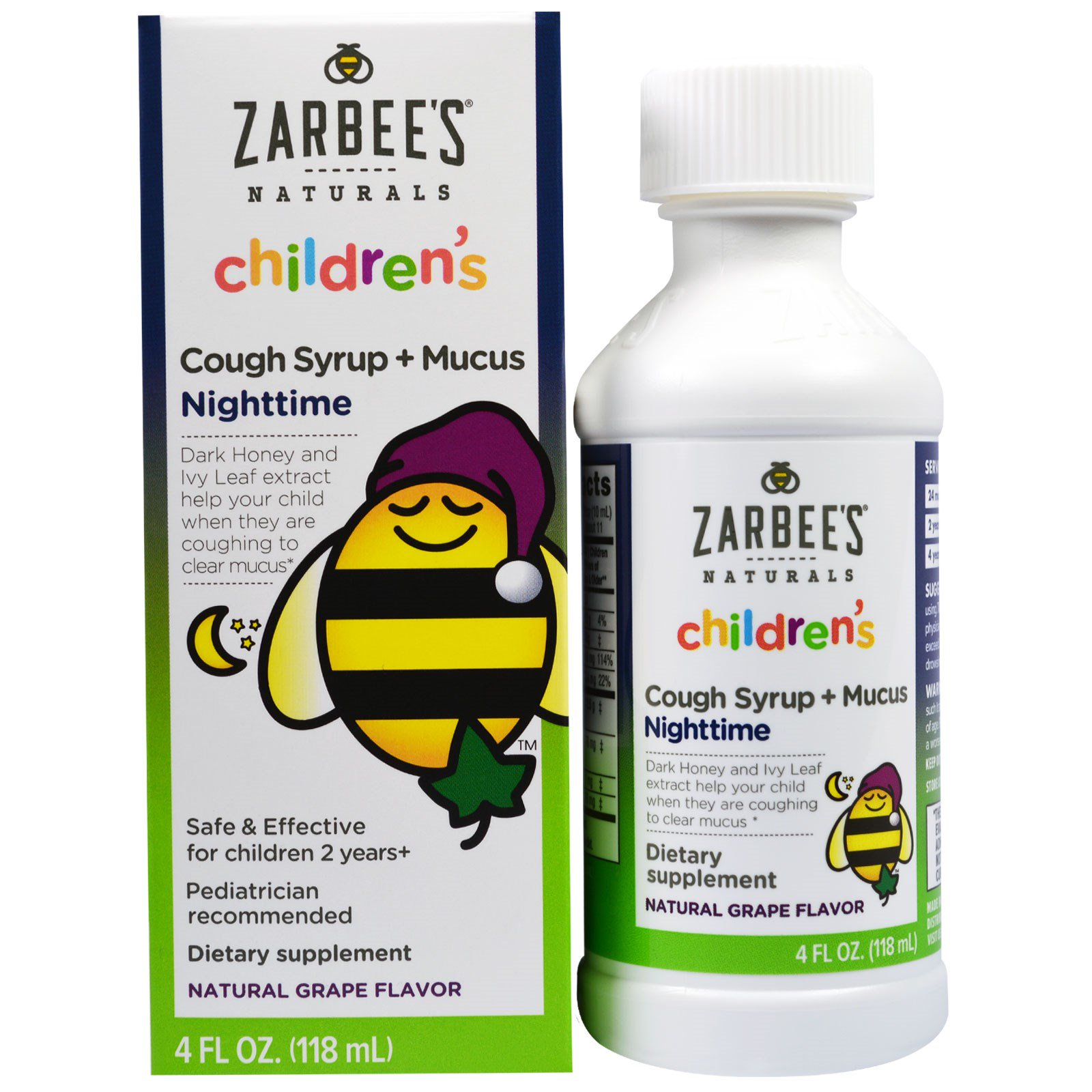 Zarbee S Children S Cough Syrup Mucus Nighttime Natural
