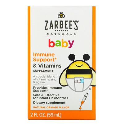 Zarbee's Детская добавка с витаминами для укрепления иммунитета, с натуральным апельсиновым вкусом, 59мл (2жидк.унции)