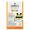 Zarbee's, Suporte Imunológico e Vitaminas para Bebês, Sabor Natural de Laranja, 59 ml (2 fl oz)
