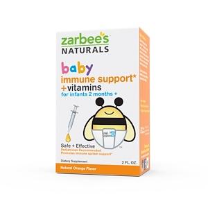Zarbee's, Baby, Поддержка иммунитета + Vвитамины, натуральный апельсиновый вкус, 2 жидких унции